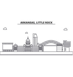arkansas little rock architecture line skyline vector image