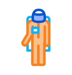 astronaut cosmic suit icon outline vector image