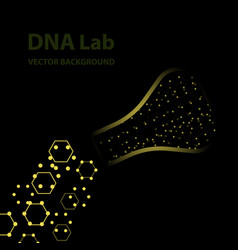 background - dna strands coming out of a test vector image