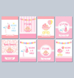 bashower card design birthday party background vector image