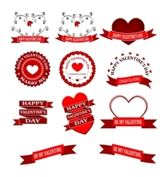 beautiful Valentines day border vector image