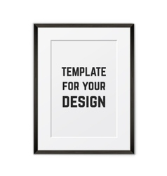 Blank framed poster on a wall template vector