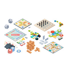board games adults funny games isometric cards vector image