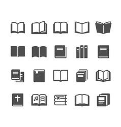 Book glyph icons vector