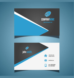 business card with a modern design vector image