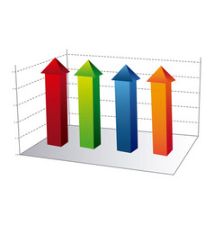 business data statistic graphic vector image