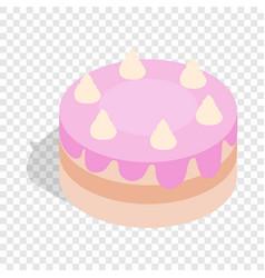 cake isometric icon vector image