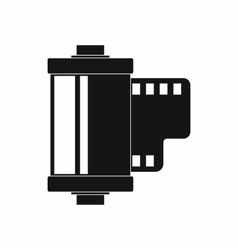 Camera film roll icon simple style vector image
