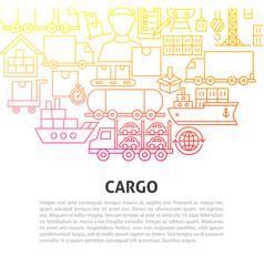 Cargo line concept vector