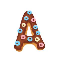 cartoon cookies font letter baking vector image