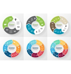 Circle arrows infographic diagram options vector