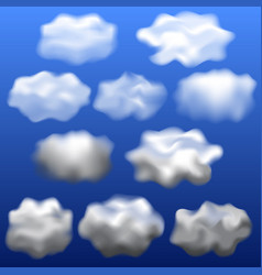 clouds isolated mockup set realistic style vector image