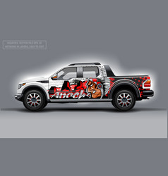 Editable template for wrap suv with indian profile vector