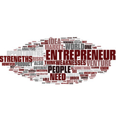 Entrepreneurs ll text background word cloud vector