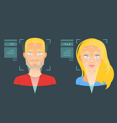 Face biometric identification vector