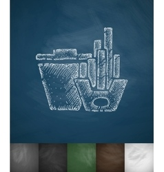 fast food icon Hand drawn vector image