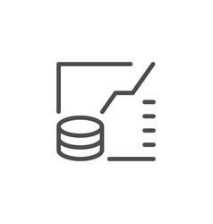 finance modern graph line icon vector image