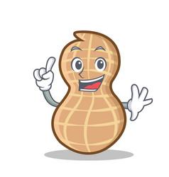 Finger peanut character cartoon style vector