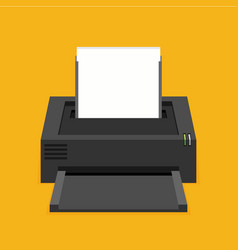 flat printer icon vector image