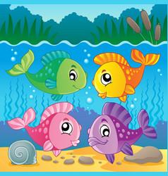 Freshwater fish theme image 7 vector