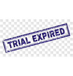 Grunge trial expired rectangle stamp vector