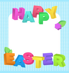 happy easter lettering in realistic style vector image