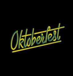 Happy oktoberfest poster vector