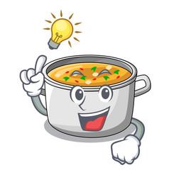 Have an idea cartoon homemade stew soup in the pot vector