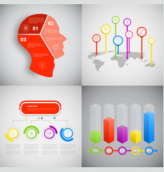 headline infographic set design business data vector image