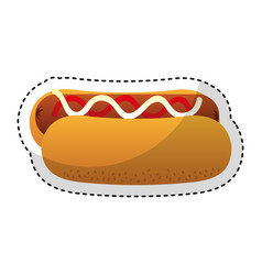 hot dog fast food isolated icon vector image