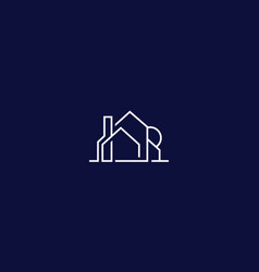 house logo icon line art vector image