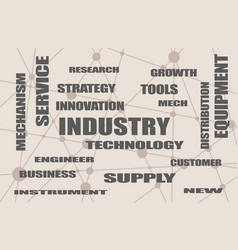 Industry word cloud concept vector