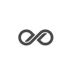 Infinity logo loop infinite eternity endless round vector
