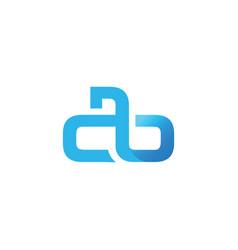Initial letter ab design logo vector