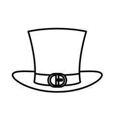 irish elf hat isolated icon vector image