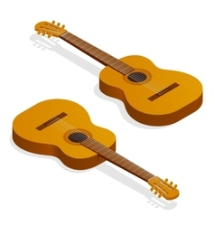 Isometric Classical acoustic guitar vector