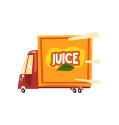 Juice delivery service truck vector