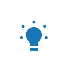 Led light bulb flat icon isolated on white vector