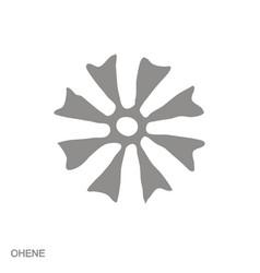 Monochrome icon with adinkra symbol ohene vector