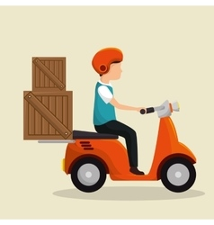 motorcycle delivery service icon vector image