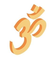 Ohm symbol isometric 3d icon vector
