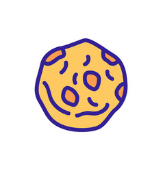 One oatmeal nutritious cookie icon outline vector