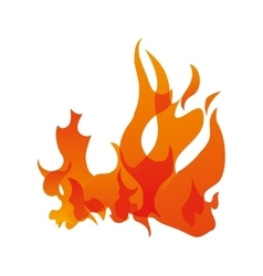Orange flame icon Fire concept graphic vector