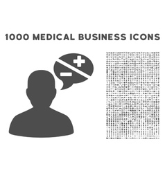 Person Arguments Icon with 1000 Medical Business vector