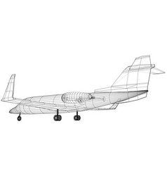 plane wireframe concept created vector image
