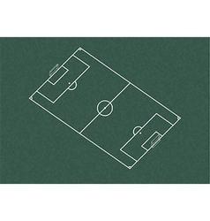 Realistic blackboard drawing football field vector
