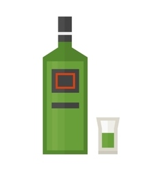 rum bottle vector image