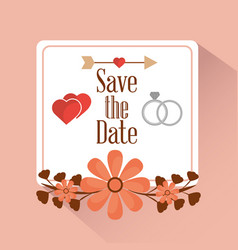 save the date card greeting invitation vector image