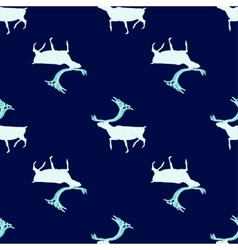 Seamless pattern Ice deer vector