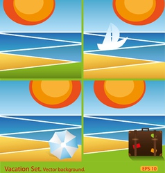 Set vacation background vector